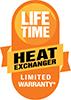 Amana's Lifetime Heat Exchanger Limited Warranty logo